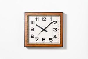 掛け時計 BRASS RECTANGLE CLOCK 【CAFE BROWN】
