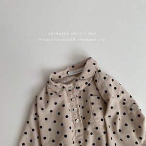 624. corduroy shirt / dot