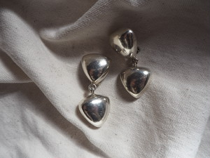 〈vintage silver925〉double triangle earrings