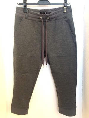 Double-Face Jersey Cropped Truck Pants Dark Gray