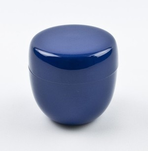 【茶道具/棗】おしゃれ かわいい カラー棗(ブルー)
