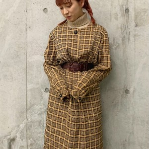 (LOOK) check coat style one-piece