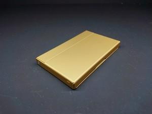 アルミニウム製名刺カードケース マットゴールド色