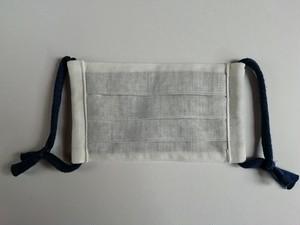 未晒し木綿 片面藍染マスク レディース(普通)サイズ