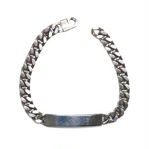 Vintage Mexican Plate & Flat Link Chain Bracelet