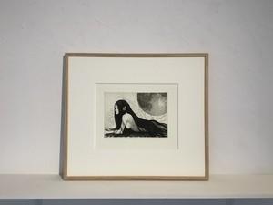 【版画アマビエ展】箕輪千絵子「海と光」MINOWA Chieko, etching