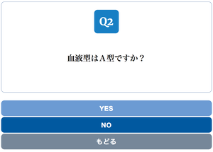Yes/No Chart BLUE スタイル