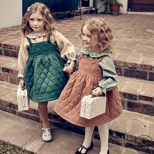 «予約»«pourenfant» quilting mellow skirt 2colors キルティングスカート
