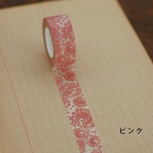 <倉敷意匠>ミハニ書林 マスキングテープ 花網にかこまれて