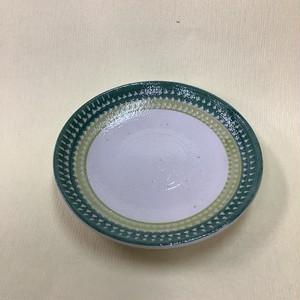 飛カンナ彩4寸皿(緑) [ 11.7 x 11.7 x 2.0cm ] 【ホップなクリスマス】