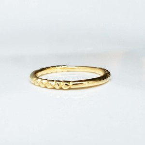 Layered Ring / Rock Gold (YG)