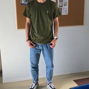ワンポイントTシャツ シティーグリーン×ホワイト