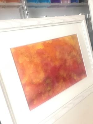 絵画 アクリル画(水彩画紙、アクリル絵の具)「光」