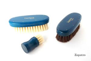 ザパトロ|Zapatro Bueno|ポリッシュブラシセット|ホースヘア×ピッグヘア×クリーム付けブラシ3本|ターコイズブルー