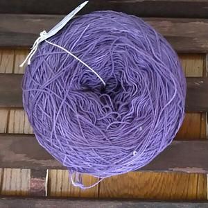編み織り、刺し子などに♪草木染め糸 コットン ログウッド染50g C9