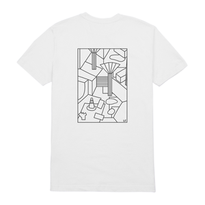 LLSB Artist Series Liisa Chisholm White T-Shirt L long live southbank XL