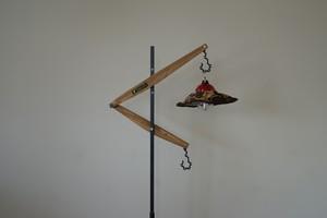 【予約注文分】Lantern stand  Lloyd Wood CAMPOOPARTS&gravity-equipmentコラボ ランタンスタンド「ロイド」ウッド キャンプ オーパーツ