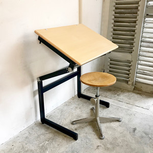 "Metal Frame Drawing Small Desk ""Thurop S.A. Swisse"" スイス 再入荷"