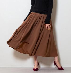 ウェービーフレアソフトスカート