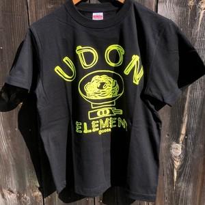 かせきさいだぁ UDON ELEMENT Tシャツ ブラック蛍光カラー