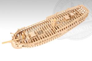 シップモデル奥本 帆船構造模型キット ハンナ号 1/70