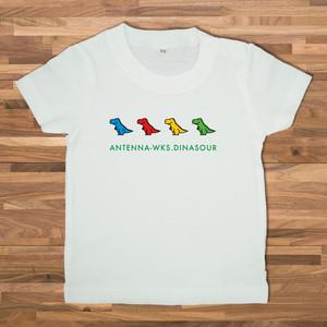 【ベビー】恐竜 Tシャツ/ホワイト【CWE-095BWH】