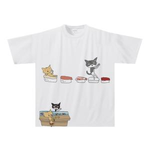 オリジナルTシャツ:門脇篤作「ねこずし」