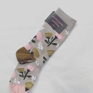 Socks ピンクのお花