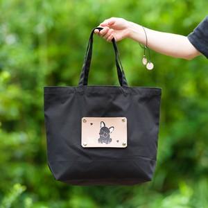 フレンチブルドッグのエコバッグ 犬がモチーフの洗えて折り畳めるショッピングバッグ