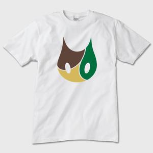 【ねこTシャツ】迷彩ミケ 猫デザイン 白 ガーメントインクジェット印刷