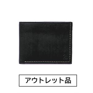 【アウトレット】二つ折り財布 ブラック&ブラウン  【40%OFF】