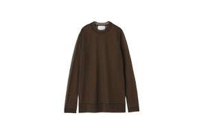 SPALKLED LONG TEE - [BROWN]