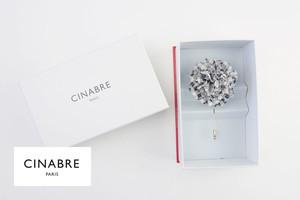 シナブル パリ|CINABRE PARIS|ブートニエール|フラワーラペルピン|ブローチ|コサージュ|チェック柄