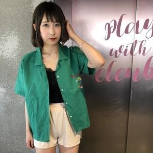 【即納】サボテン刺繍シャツ