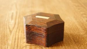 楢の印鑑ケース 六角形