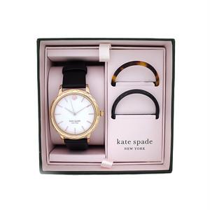 ケイトスペード KATE SPADE 腕時計 トップリング付き レディース KSW1556B クォーツ ホワイト ブラック