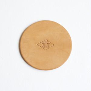 Leather Coaster(ヌメ革コースター、レザーコースター)