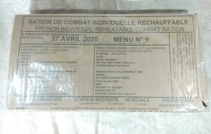 ブルジョワの食卓!フランス軍レーション メニュー⑨ 1日3食パック