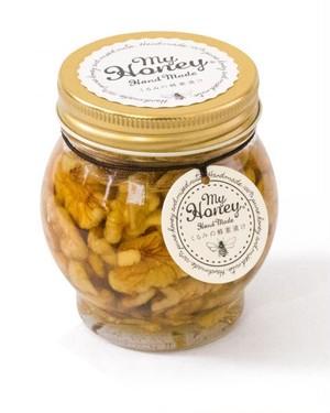 【低GI食品】ナッツの蜂蜜漬け L(200g)×12個セット