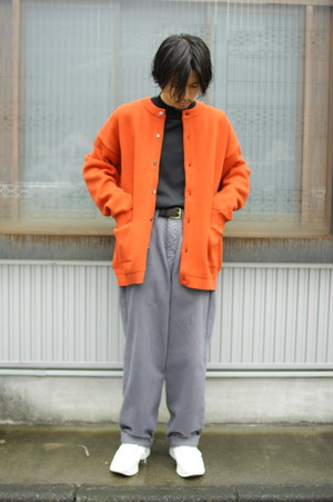 "YASHIKI 2019AW ""Komogake Cardigan"" ORANGE"
