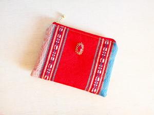 チュニジア布のミニポーチ(サハラの祭no.44)