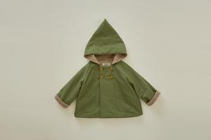 eLfinFolk(エルフィンフォルク)/elf coat sage green(90/100)予約販売