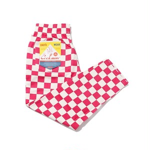 COOKMAN   Chef Pants 「Checker」 Pink