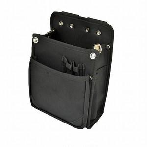 マルキン印 内側ポケット付ナイロン腰袋 B 黒