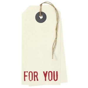 タグのかたちの大きなカード For you  #186