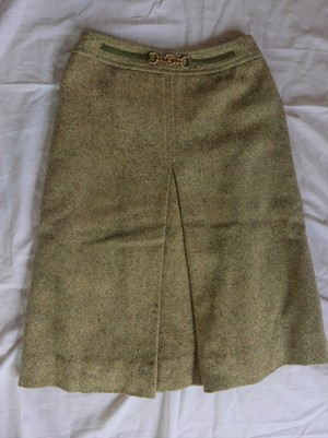 CELINE 1970's Tweed Skirt