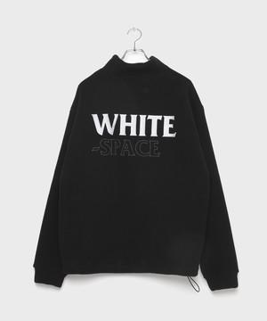 WHITE SPACE Fleece×Boa Tops [Black]