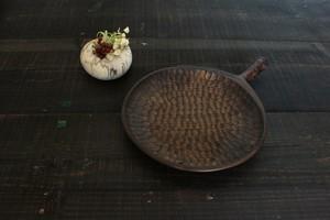 ≪branch≫七寸皿 (さくら 鉄染め)