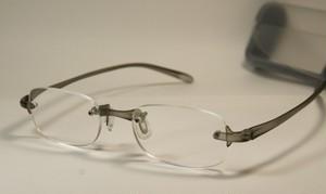 やわらか老眼鏡(グレー)専用ケース付き [4230]