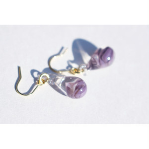 drop glass pierce #purple